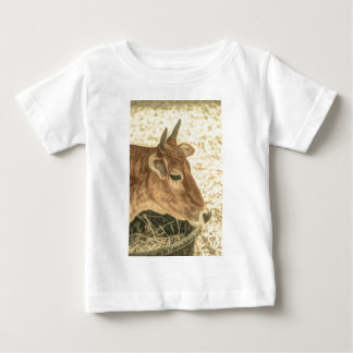 Primitive Western Country Ranch Brown Angus Cow Baby T-Shirt
