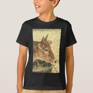 Primitive Western Country Ranch Brown Angus Cow T-Shirt