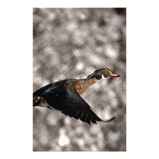 Primitive Western Country waterfowl wood duck Stationery