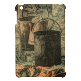 Primitive western cowboy camping bonfire campfire cover for the iPad mini