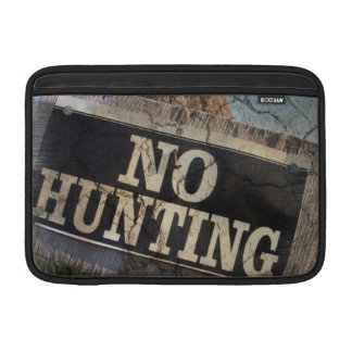 Primitive western Farm Post no hunting sign MacBook Air Sleeve