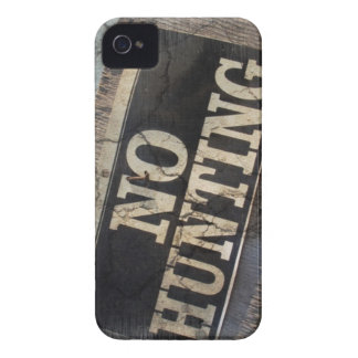Primitive western Farm Post no hunting signs Case-Mate iPhone 4 Case