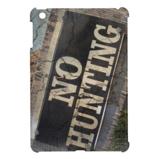 Primitive western Farm Post no hunting signs Cover For The iPad Mini