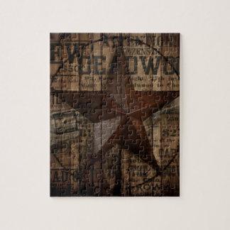 primitive wild western country Texas Lone Star Jigsaw Puzzle