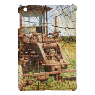 Primitive Wood Grain Country Construction tractor iPad Mini Cases