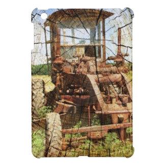 Primitive Wood Grain Country Construction tractor iPad Mini Cover