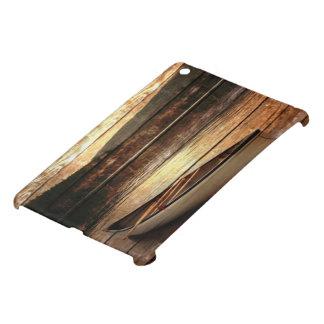 Primitive Wood grain reflection Lake House Canoe Cover For The iPad Mini