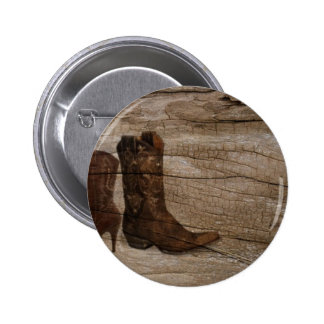 Primitive Wood grain Western country cowboy boots Button