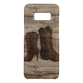 Primitive Wood grain Western country cowboy boots Case-Mate Samsung Galaxy S8 Case