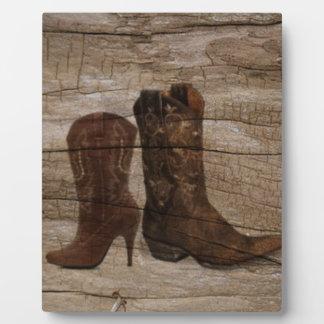 Primitive Wood grain Western country cowboy Plaque