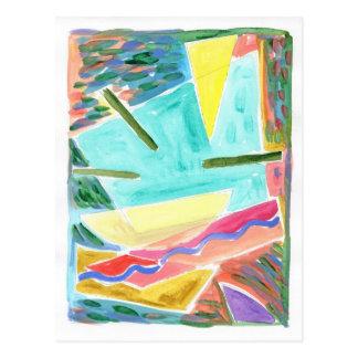 Primitivo 3 del espacio tarjeta postal
