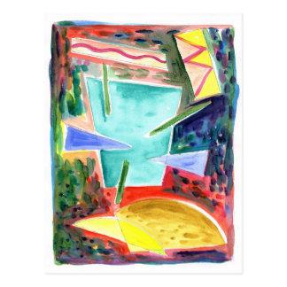 Primitivo 8 del espacio tarjeta postal
