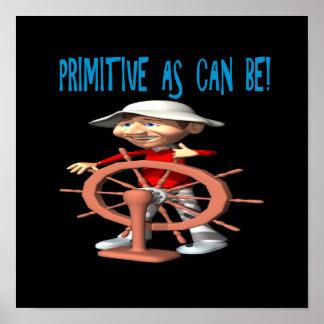 Primitivo como puede ser poster