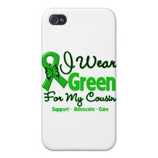 Primo - cinta verde de la conciencia iPhone 4 carcasa