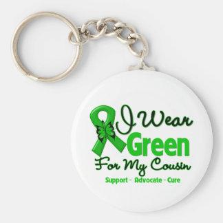 Primo - cinta verde de la conciencia llaveros personalizados