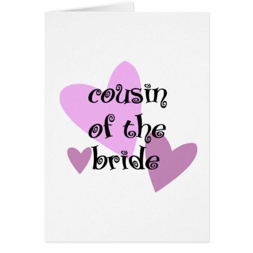 Primo de la novia tarjeta de felicitación
