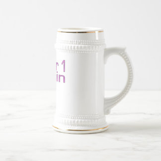 Primo del número 1 en rosa taza de café