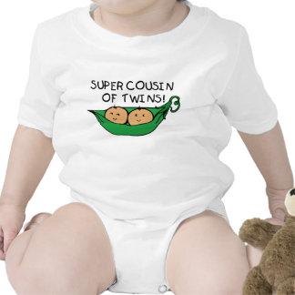 Primo estupendo de la vaina de los gemelos trajes de bebé