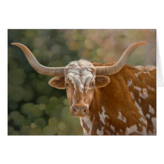 """Primo"" - Texas Longhorn Card"