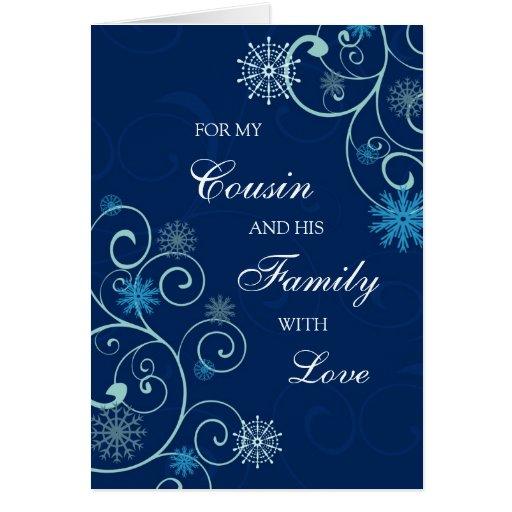 Primo y su tarjeta de las Felices Navidad de la fa