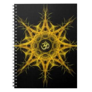Primordial Aum - with Om Symbol Spiral Notebook