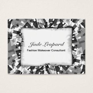 Primordial Egg - black&white abstract burst Business Card