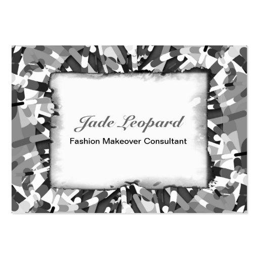 Primordial Egg - Black&White abstract burst Business Cards