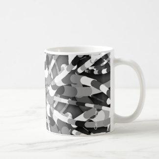 Primordial Egg - black&white abstract burst Coffee Mug