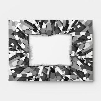 Primordial Egg - black&white abstract burst Envelope