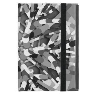 Primordial Egg - Black&White abstract burst Covers For iPad Mini