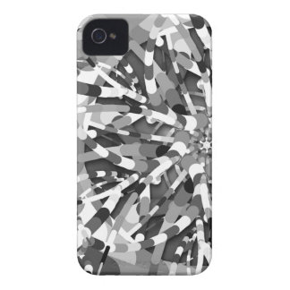 Primordial Egg - black&white abstract burst iPhone 4 Cover