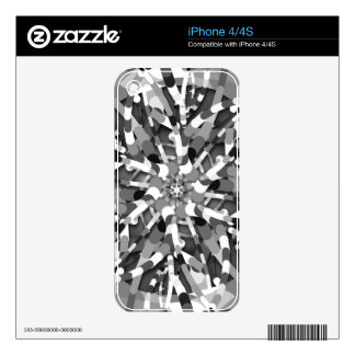 Primordial Egg - black&white abstract burst iPhone 4S Decals