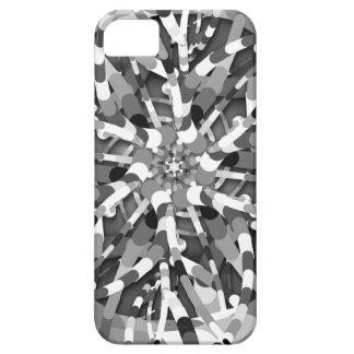 Primordial Egg - black&white abstract burst iPhone SE/5/5s Case