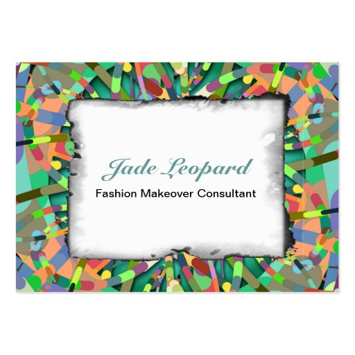 Primordial Egg - Emerald abstract burst Business Card