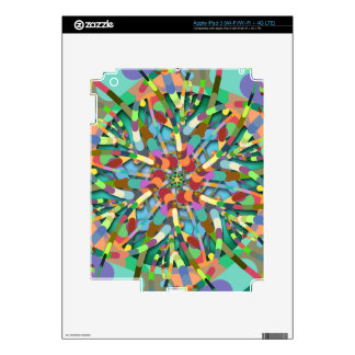 Primordial Egg - Emerald abstract burst iPad 3 Decal