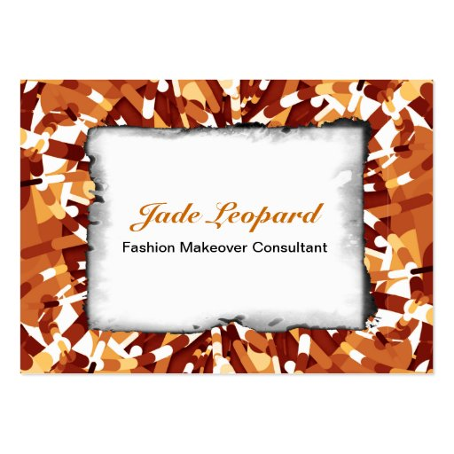 Primordial Egg - Fire abstract burst Business Card