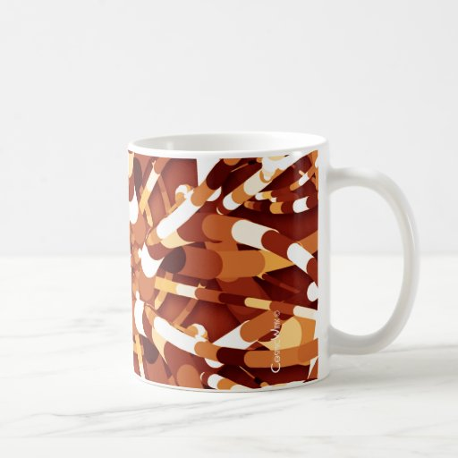 Primordial Egg - Fire abstract burst Coffee Mugs