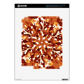 Primordial Egg - Fire abstract burst Decals For iPad 3