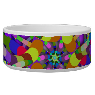 Primordial Egg - Multi color abstract burst Bowl