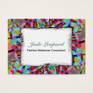 Primordial Egg - Multi color abstract burst Business Card