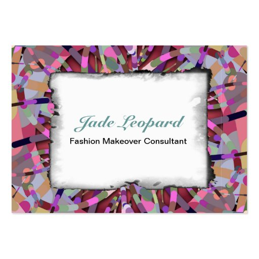 Primordial Egg - Multi color abstract burst Business Cards