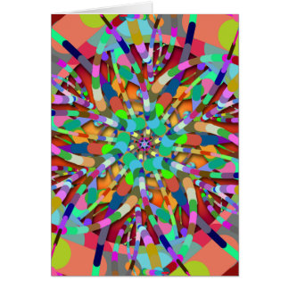 Primordial Egg - Multi color abstract burst Card