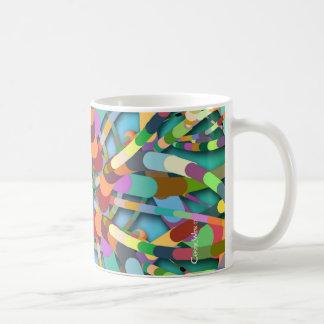 Primordial Egg - Multi color abstract burst Coffee Mug