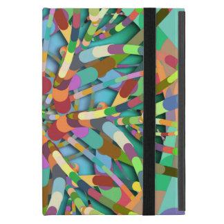 Primordial Egg - Multi color abstract burst Cover For iPad Mini