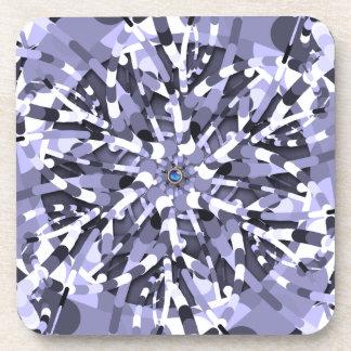 Primordial Egg - Multi color abstract burst Drink Coaster