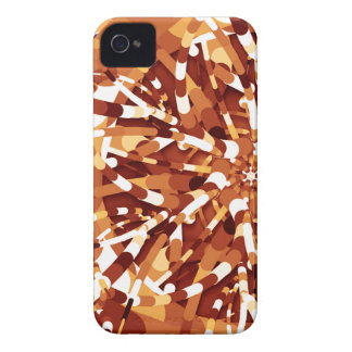 Primordial Egg - Multi color abstract burst iPhone 4 Cover