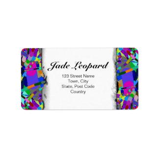 Primordial Egg - Multi color abstract burst Custom Address Labels