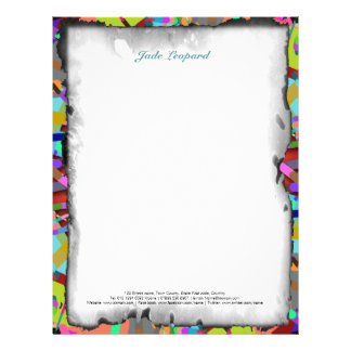 Primordial Egg - Multi color abstract burst Customized Letterhead