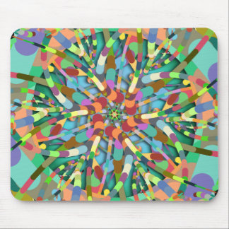 Primordial Egg - Multi color abstract burst Mouse Pad