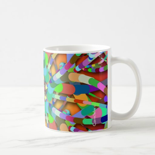 Primordial Egg - Multi color abstract burst Mugs